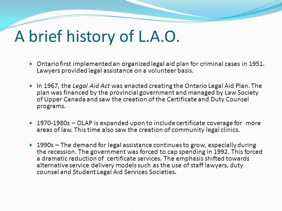 A brief history of L.A.O.