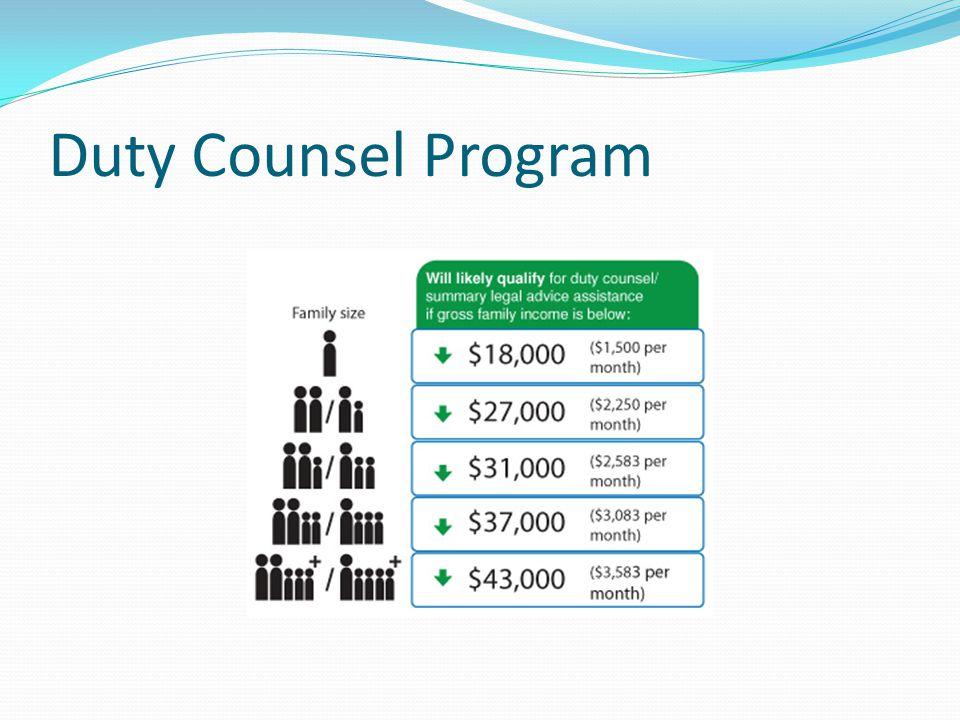 Duty Counsel Program