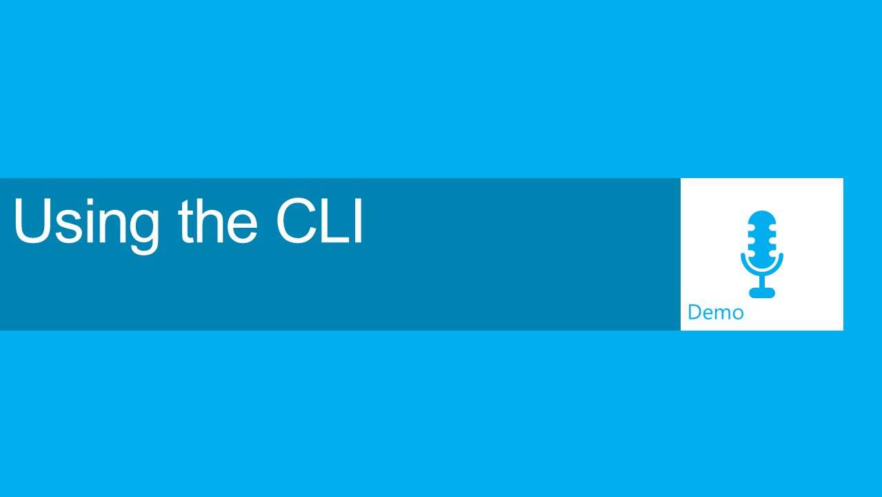 Using the CLI Demo