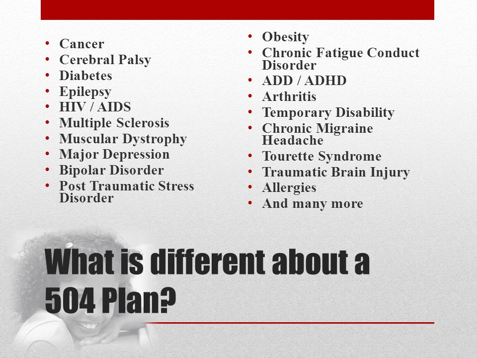 What is different about a 504 Plan.