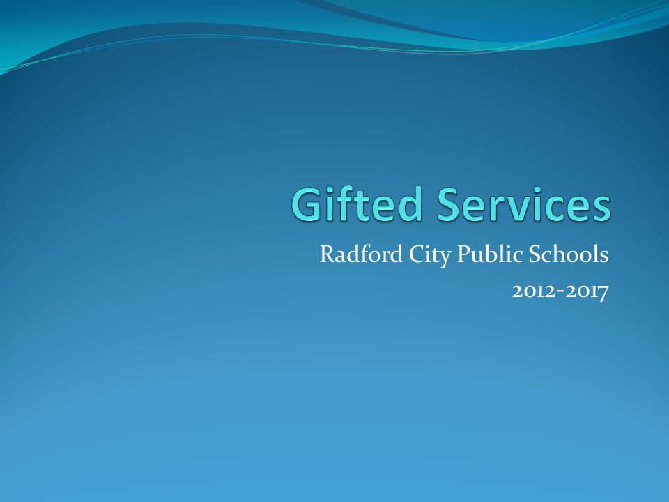 Radford City Public Schools 2012-2017