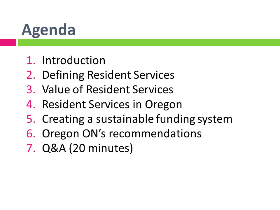 Oregon ONs Recommendations Industry standards and best practices New resources to support above-the-line funding New resources outside the underwriting processFunder transparency and clarity