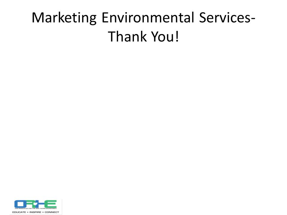 Marketing Environmental Services- Thank You!