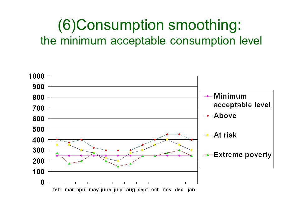 (5)Consumption Smoothing: Income Sources and Levels