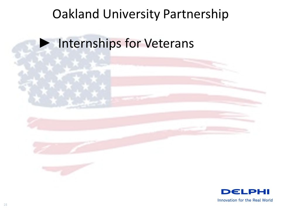 Oakland University Partnership Internships for Veterans 28