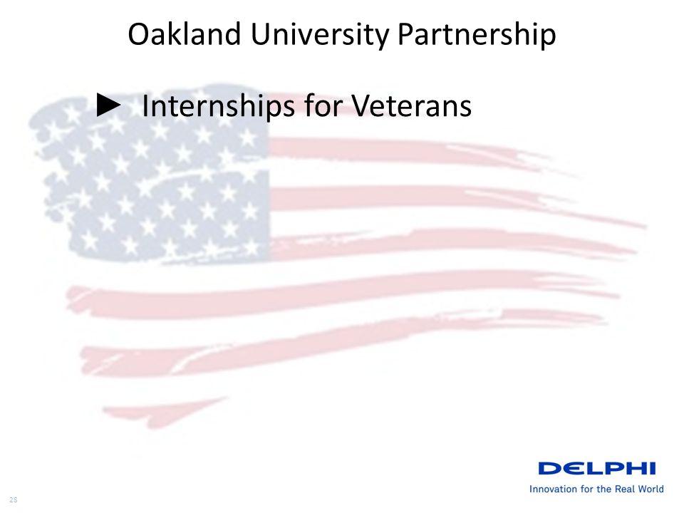 Oakland University Partnership Internships for Veterans 28