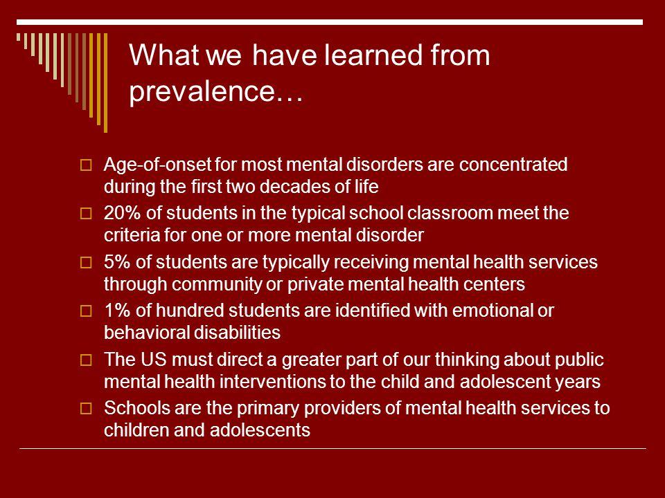 Ten essential preventive mental health services 6.