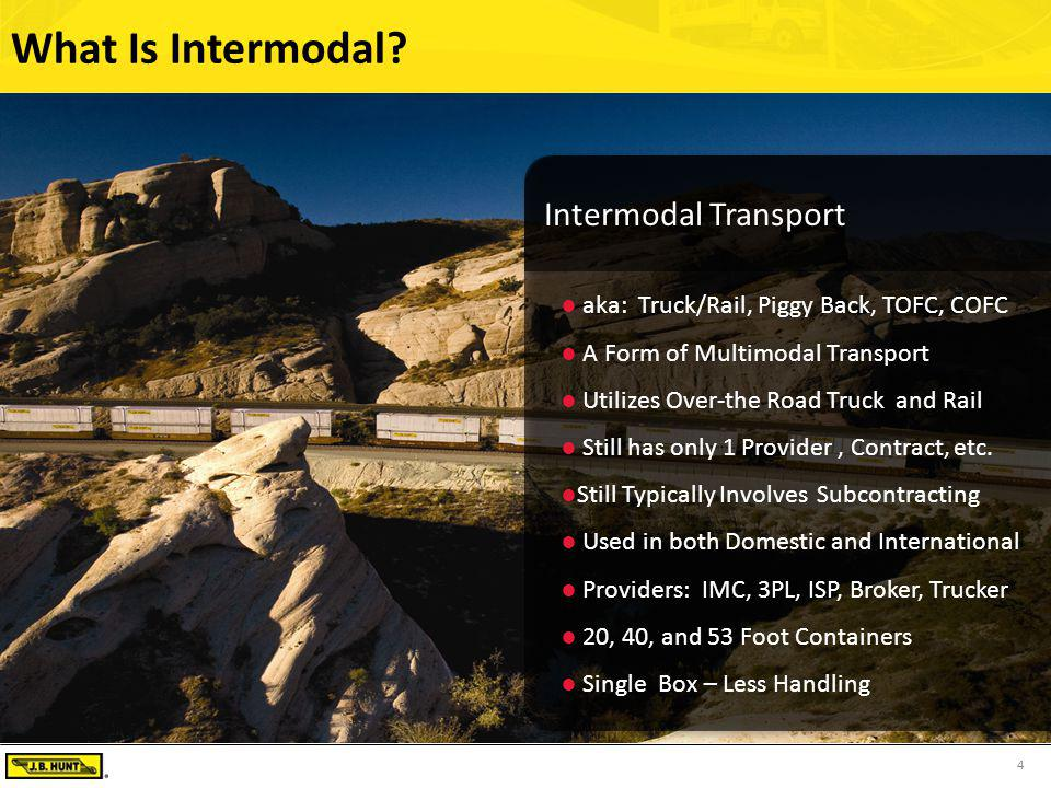 4 What Is Intermodal?