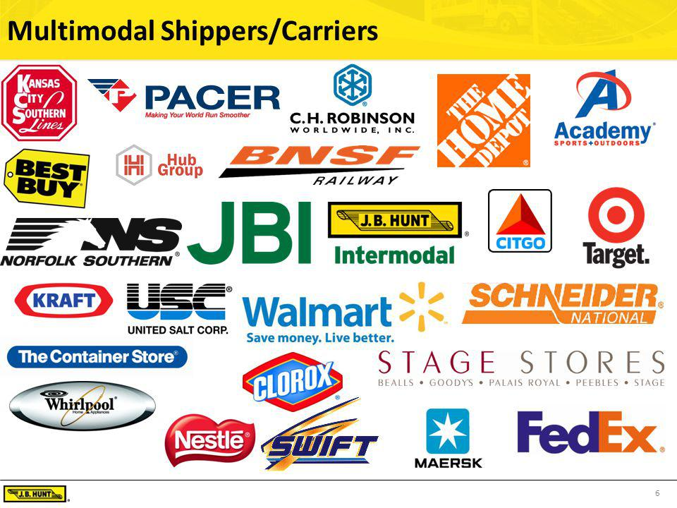 6 Multimodal Shippers/Carriers