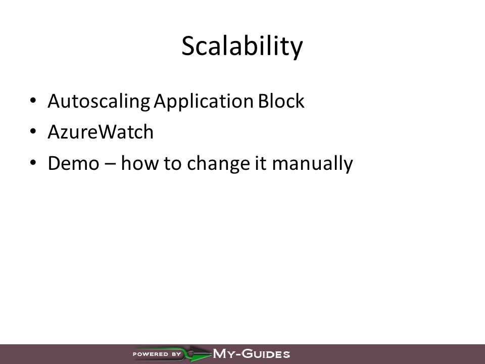 Scalability Autoscaling Application Block AzureWatch Demo – how to change it manually