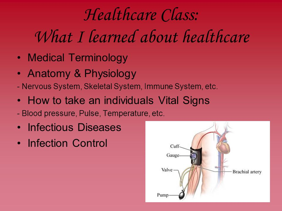 The Healthcare Support Services Program. Healthcare Class: What I ...