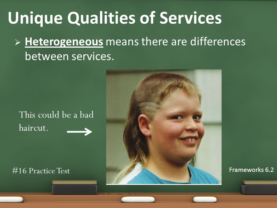 Heterogeneous means there are differences between services.