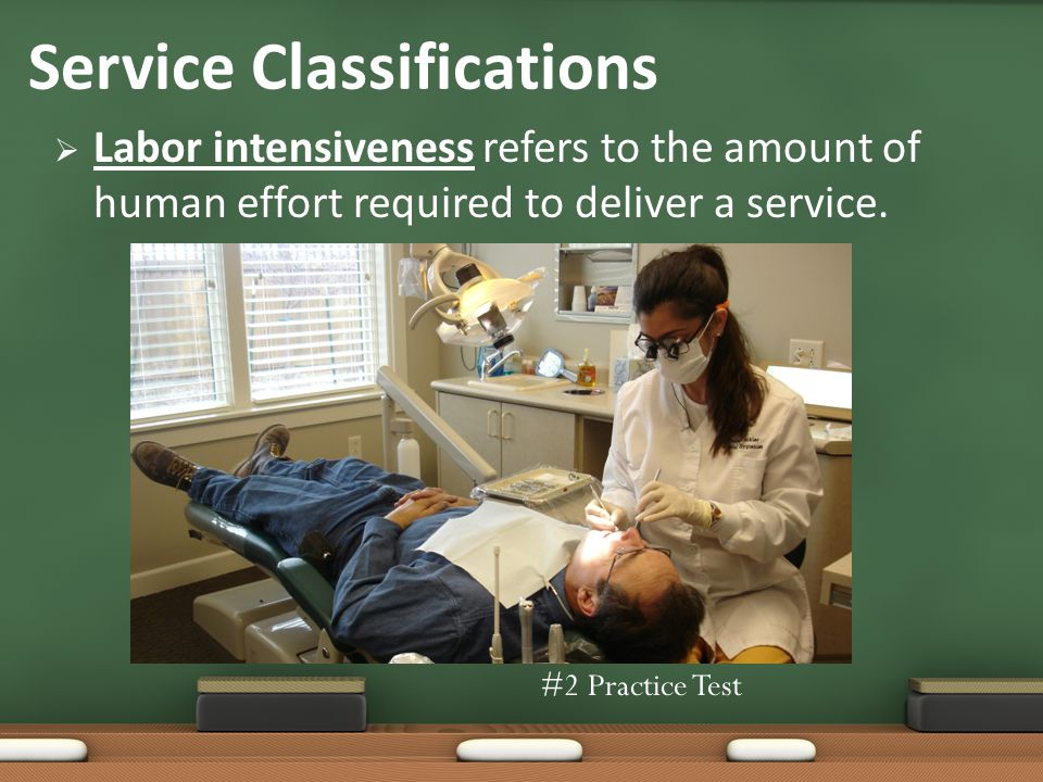 Labor intensiveness refers to the amount of human effort required to deliver a service.