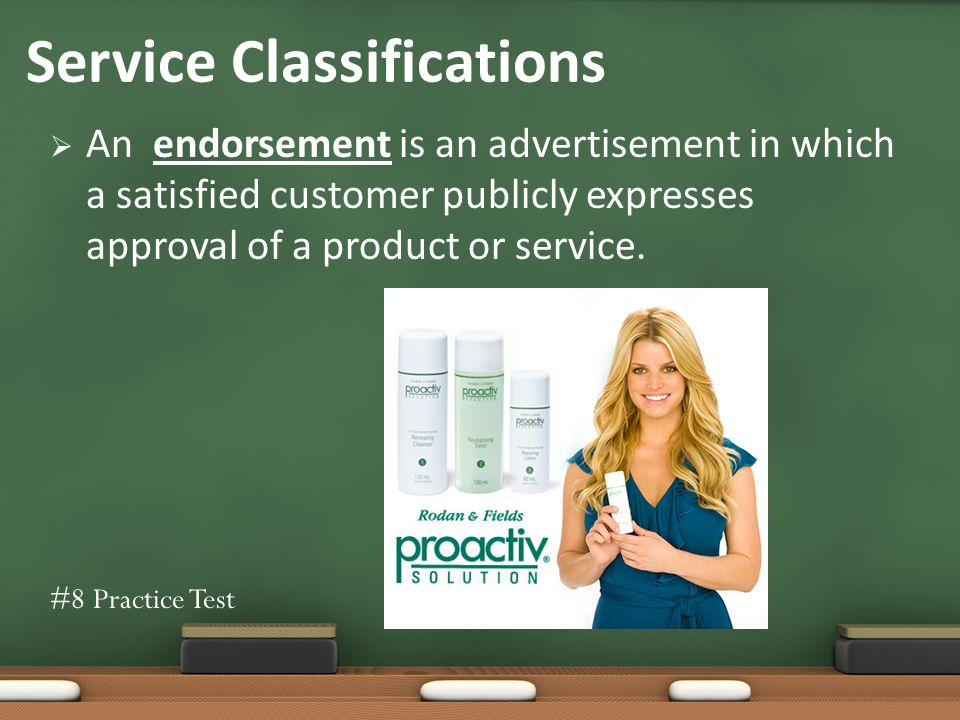 An endorsement is an advertisement in which a satisfied customer publicly expresses approval of a product or service.