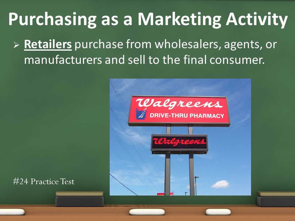 Retailers purchase from wholesalers, agents, or manufacturers and sell to the final consumer.