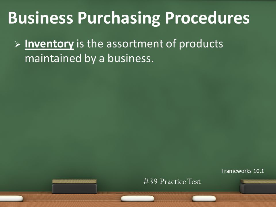Inventory is the assortment of products maintained by a business.