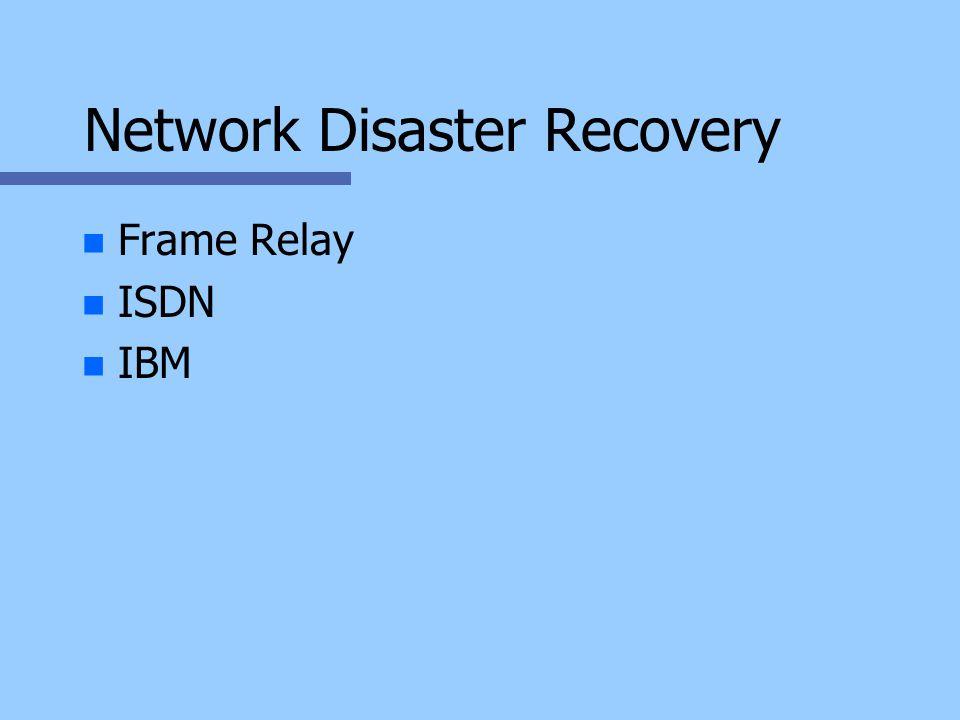Network Disaster Recovery n n Frame Relay n n ISDN n n IBM