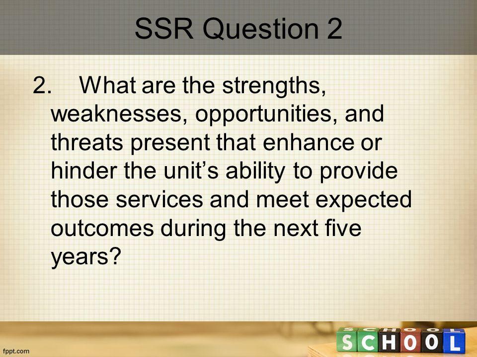 SSR Question 2 2.