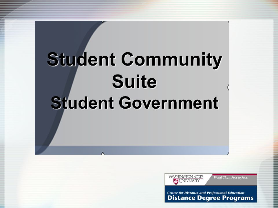 Student Community Suite Student Government