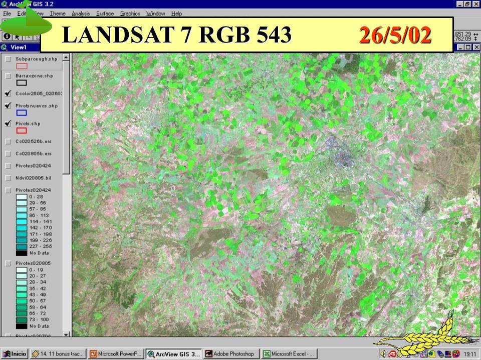 LANDSAT 7 RGB 543 26/5/02