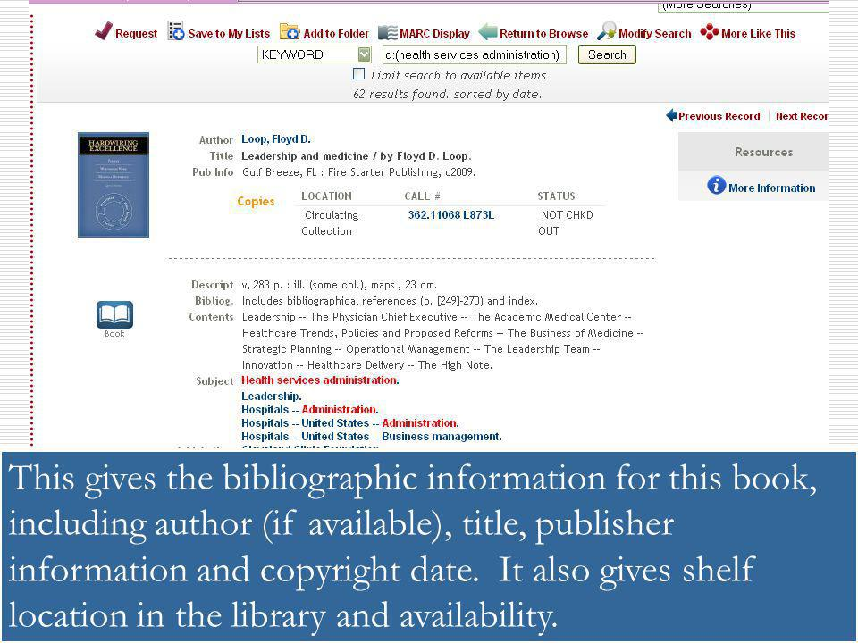 This gives the bibliographic information for this book, including author (if available), title, publisher information and copyright date.