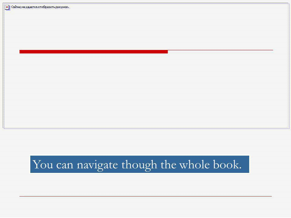 You can navigate though the whole book.