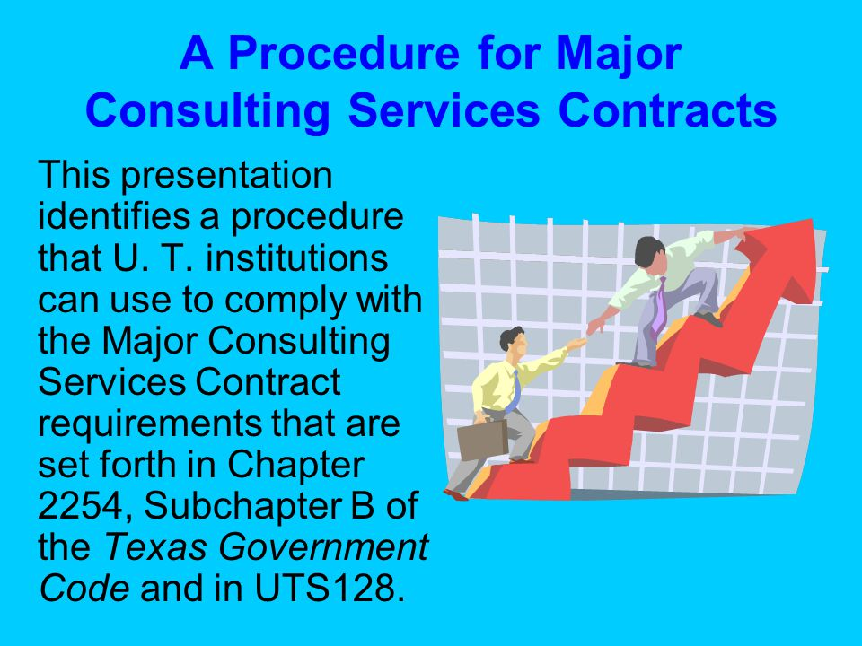 STEP 2: Approval by Executive Vice Chancellor If so, attach a written draft of the proposed Finding of Fact to the Major Consulting Services Contract Approval Request Form submitted to the EVC.