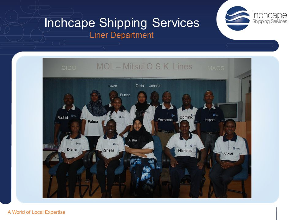 Inchcape Shipping Services Liner Department MOL – Mitsui O.S.K. Lines CIDO MACS