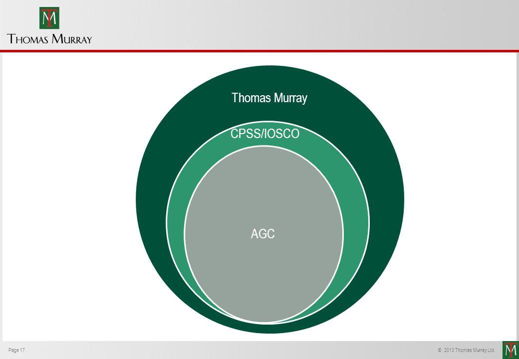 Page 17© 2013 Thomas Murray Ltd. Thomas Murray AGC CPSS/IOSCO