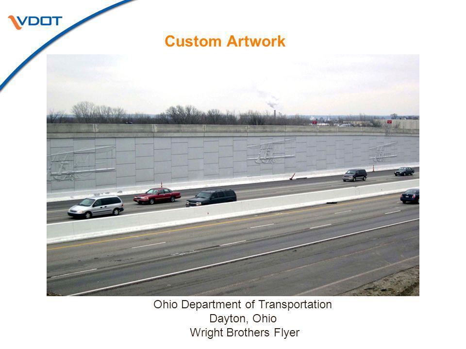 Custom Artwork Ohio Department of Transportation Dayton, Ohio Wright Brothers Flyer