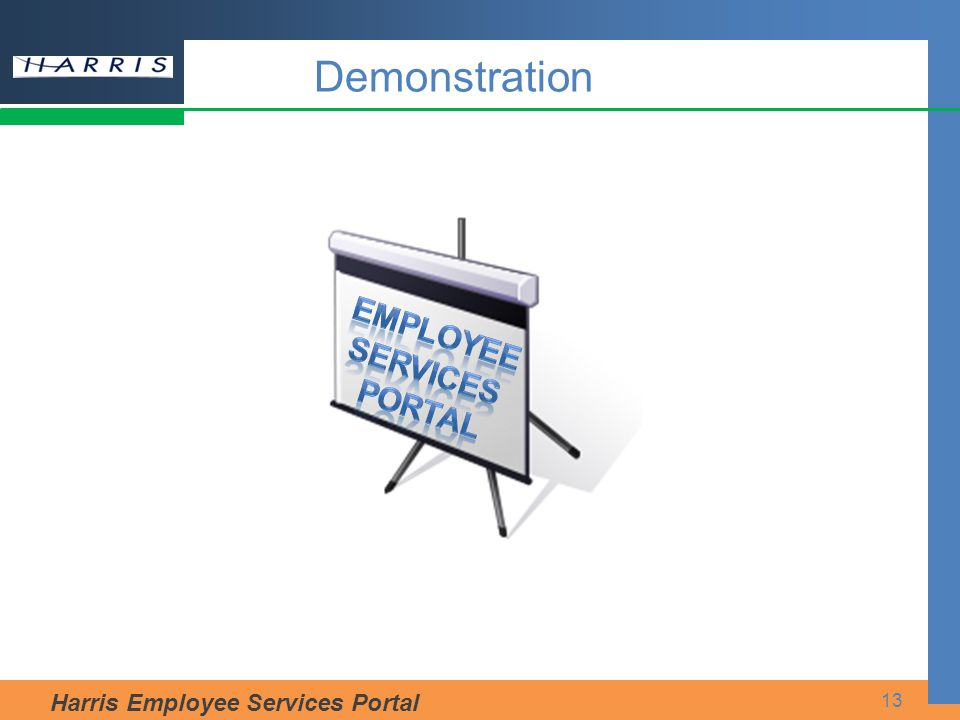 Harris Employee Services Portal 13 Demonstration