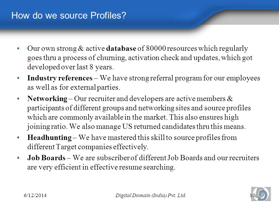 How do we source Profiles.