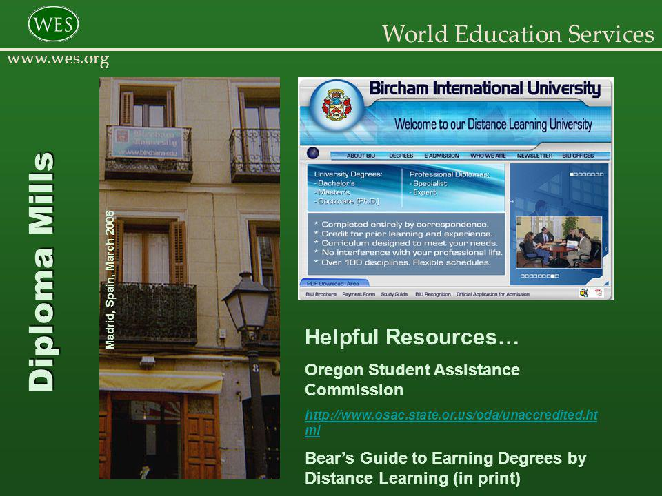 World Education Services www.wes.org Transnationalism