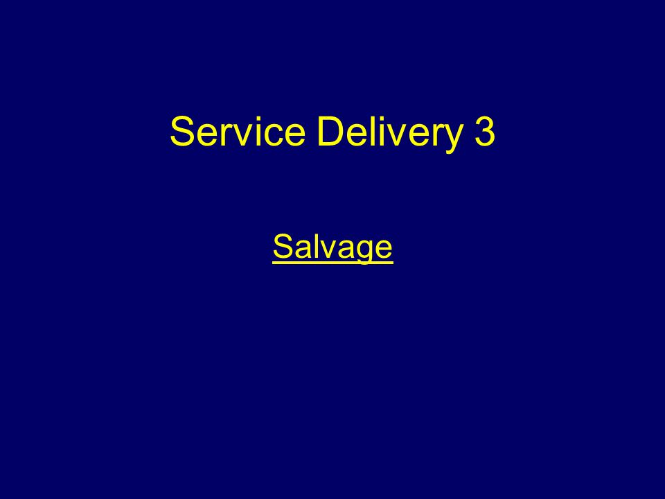 Service Delivery 3 Salvage