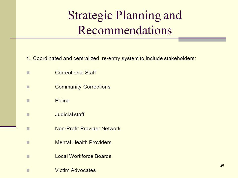 26 Strategic Planning and Recommendations 1.