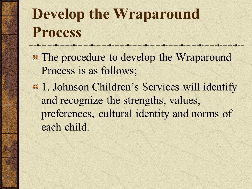 Develop the Wraparound Process The procedure to develop the Wraparound Process is as follows; 1.