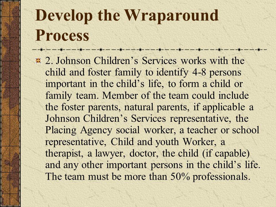 Develop the Wraparound Process 2.