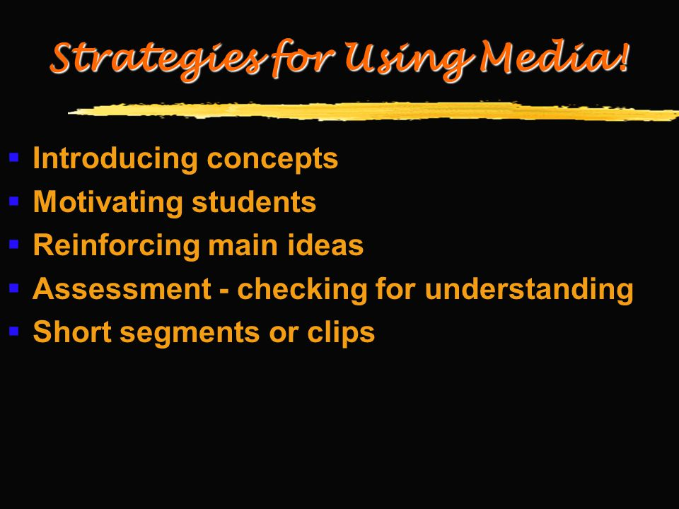 Strategies for Using Media.