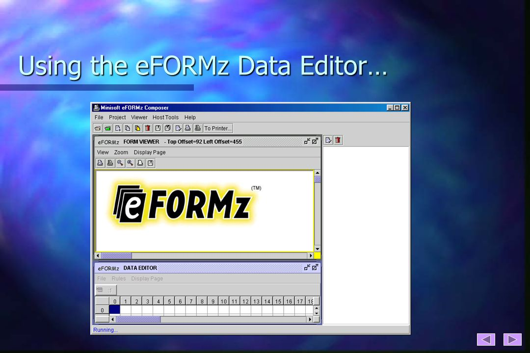 Using the eFORMz Data Editor…