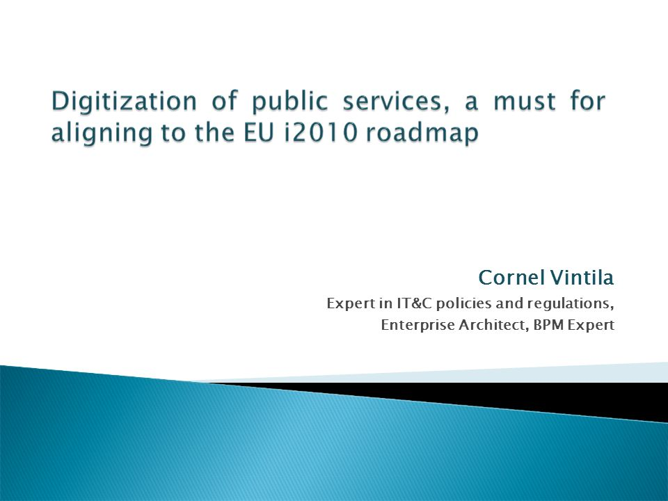 The framework i2010 - A European information society for growth and employment was launched by the European Commission in 2005, and it provides the broad policy guidelines for what we call the emerging information society in the years up to 2010.