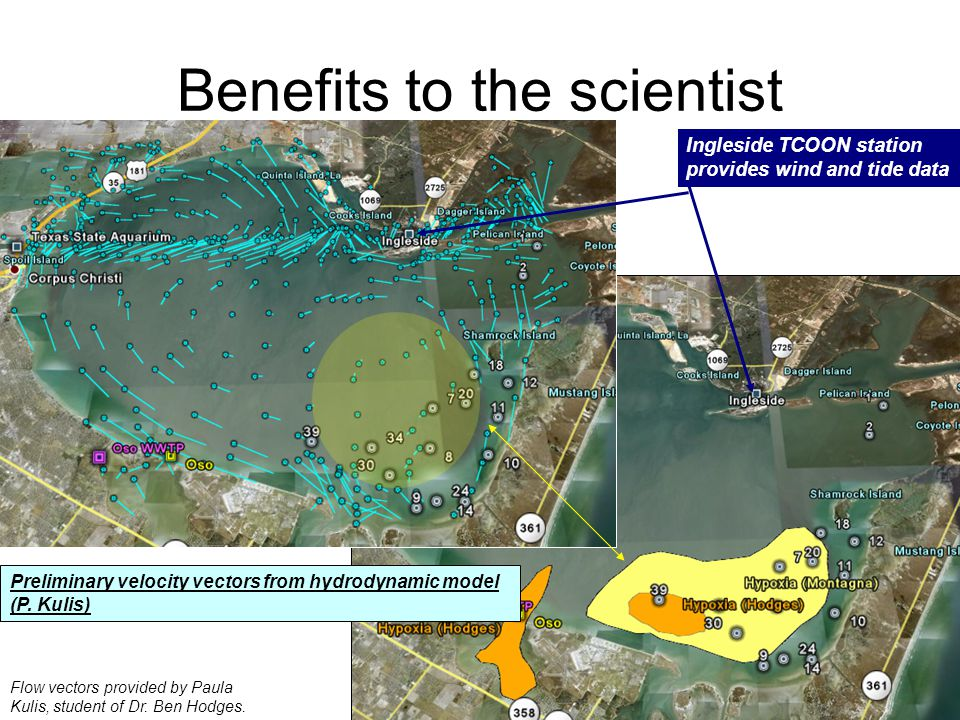 Benefits to the scientist Flow vectors provided by Paula Kulis, student of Dr.