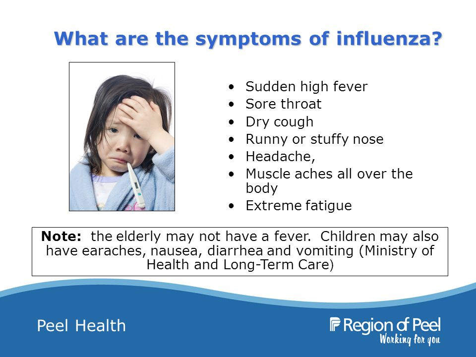 Peel Health What are the symptoms of influenza.