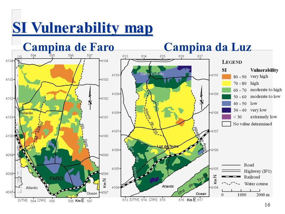 16 SI Vulnerability map Campina de Faro Campina da Luz