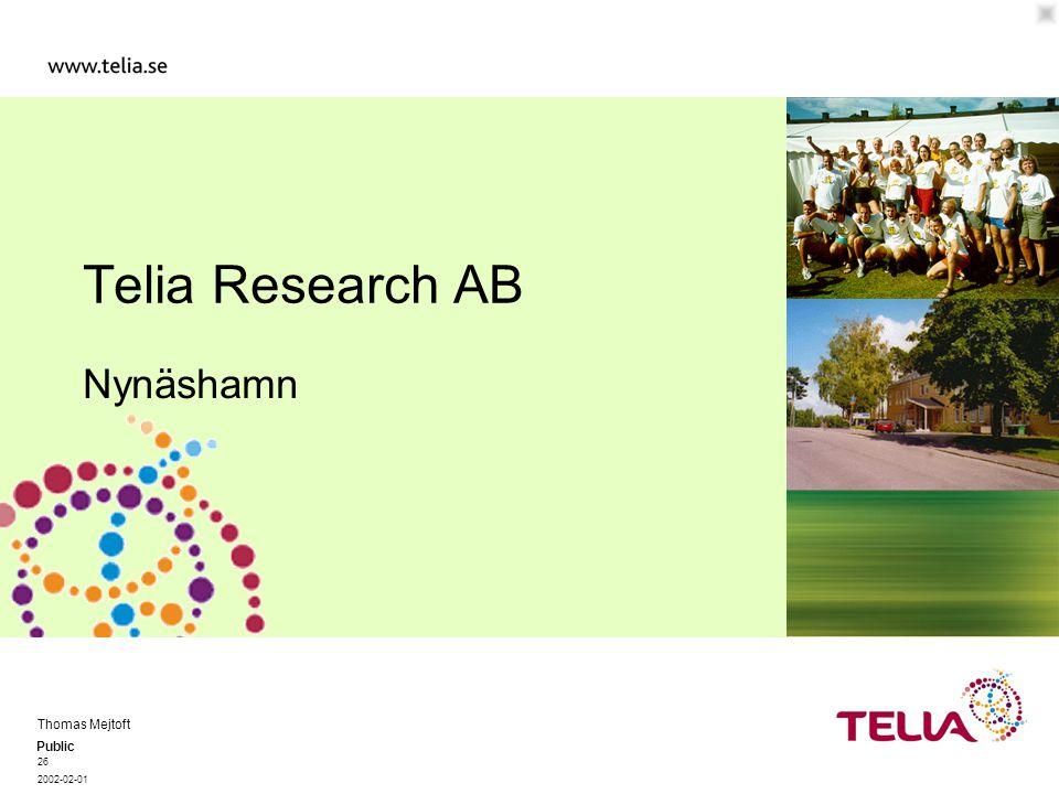 Public Thomas Mejtoft 26 2002-02-01 Telia Research AB Nynäshamn