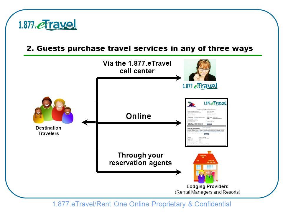 1.877.eTravel/Rent One Online Proprietary & Confidential 2.