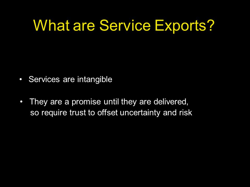 What are Service Exports.