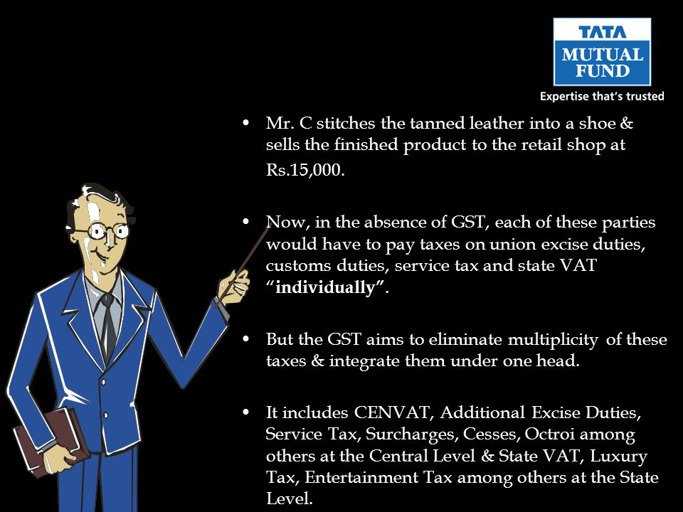Hope you have now understood the concept of GST Do write to me at professor@tataamc.com