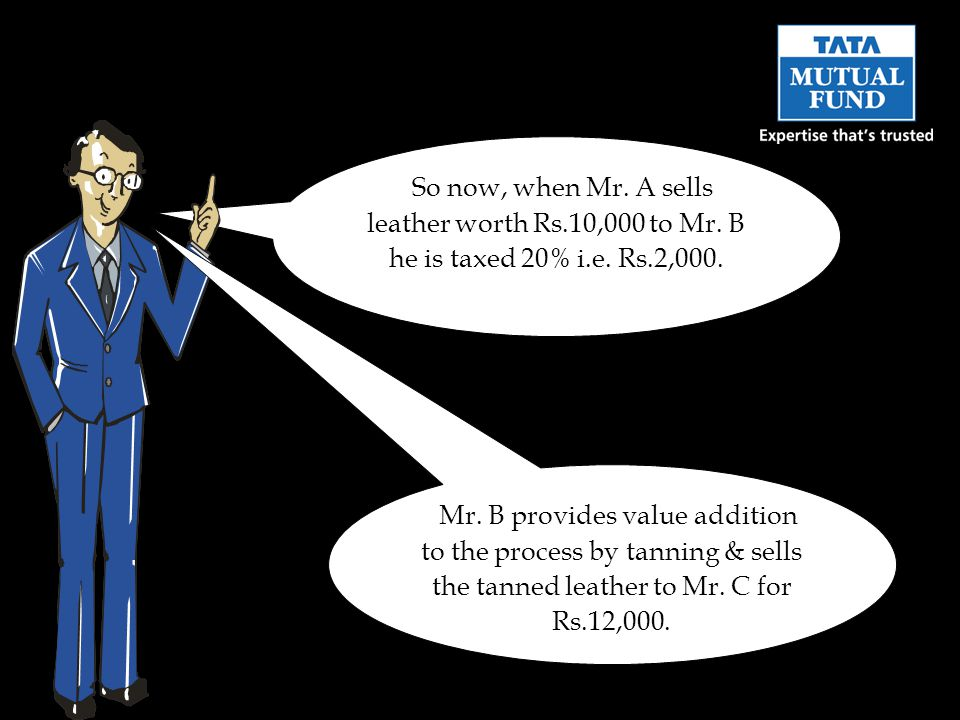 In the absence of GST, when Mr.B sells the tanned leather to Mr.