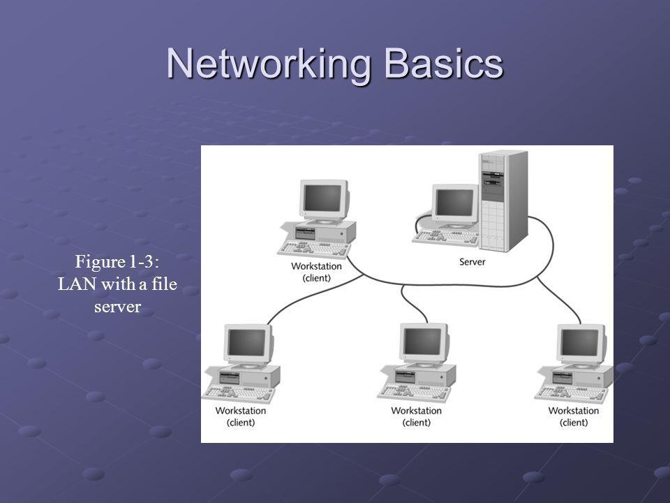 Networking Basics Figure 1-3: LAN with a file server