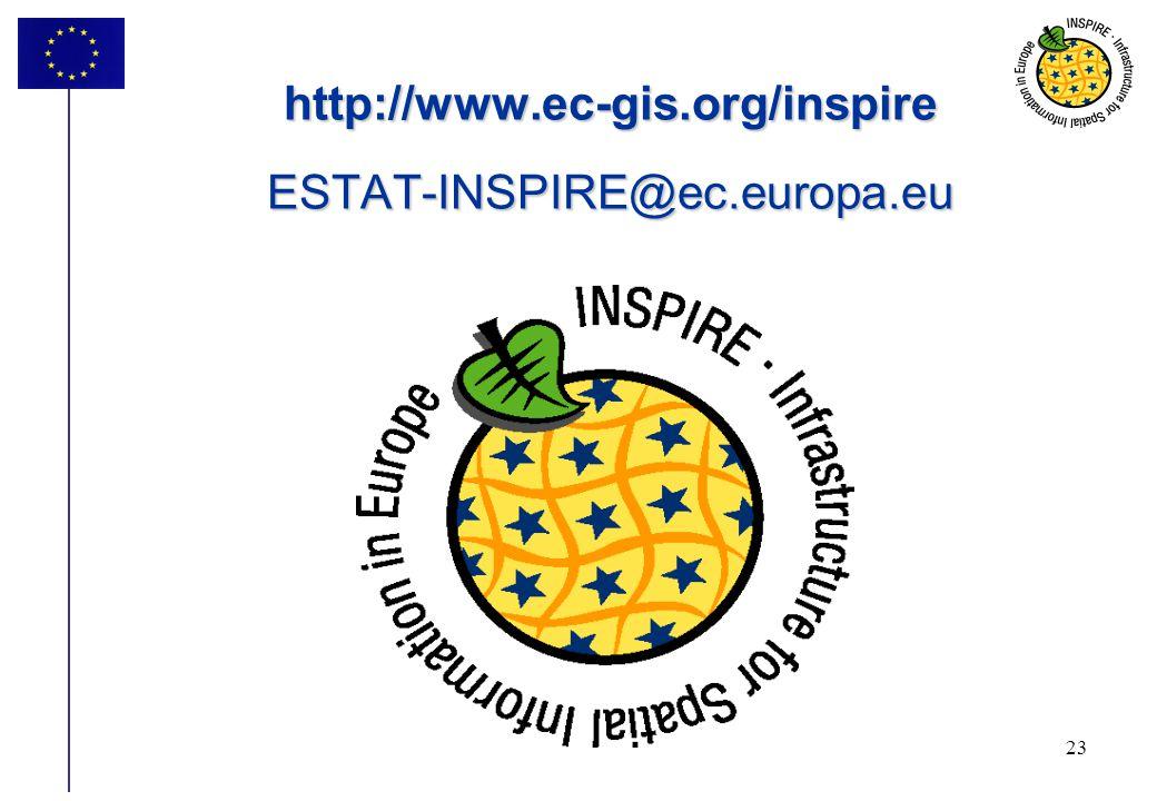 23 http://www.ec-gis.org/inspire ESTAT-INSPIRE@ec.europa.eu